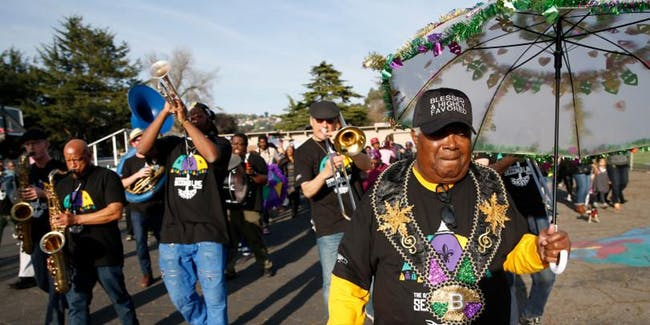 Mardi Gras 2020 - MJ's Brass Boppers Second Line Brass Band